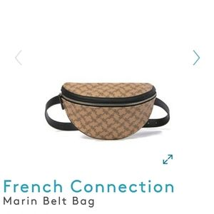NEW FRENCH CONNECTION faux leather MARIN BELT BAG